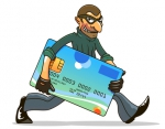 Hacker or thief stealing credit card for internet security and banking concept design - Газета Новость