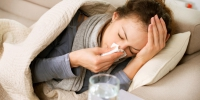 Sick Woman. Flu. Woman Caught Cold. Sneezing into Tissue - Газета Новость